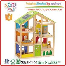 OEM/ODM Good Quality Children Game Wooden Doll Cottage w/ Furniture