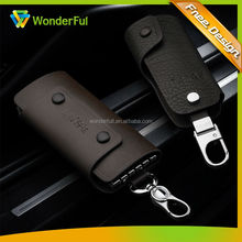 2014 Cheap Custom High End Beautiful Metal Leather Keychain