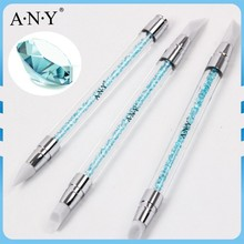 ANY Nail Art Beauty Sculpture Paiting Pen 3PCS Rhinestone Silicone Painting Nail Tools Set