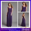 Alta Qualidade Roxo Padrões Boat Neck Low Back Lace corpete de cetim de seda saia longa vestidos de dama elegante (AB0342)