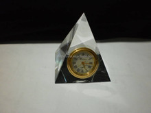 popular crystal pyramid table clock MH-JZ042