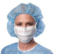 Non-woven Fabric disposable surgical doctor cap/nursing hat with different size