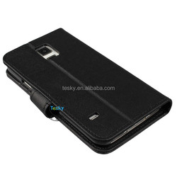 For Samsung Galaxy S5 leather case,wallet leather case for Samsung Galaxy S5,high quality
