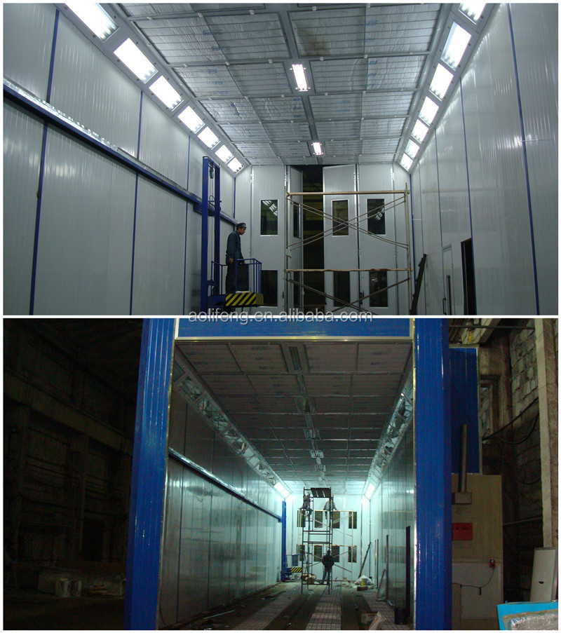 Industrial Painting Booths : Large industrial paint spray booth with d trolley buy