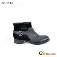 25-06-Black shoes wholesale women shoes import shoe woman low-heeled ankle boots
