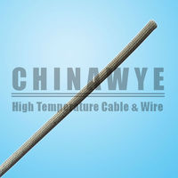 High temperature heat resistant silicone rubber coated fiberglass sleeve