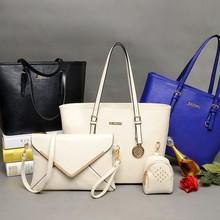 Hot sale 3 pcs in 1 set Leather Lady bag with envelope bag & coin bag
