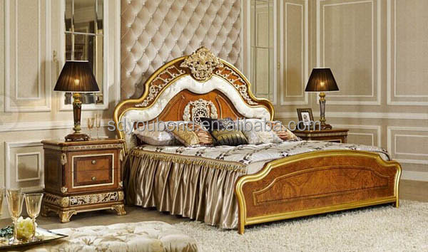 Wooden Bed With Carving Design : 0062 Italy Wood Carving Furniture Dressing Table Designs For Bedroom ...