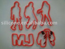 Michael Jackson shapes rubber bands Silicone Bands Bracelet