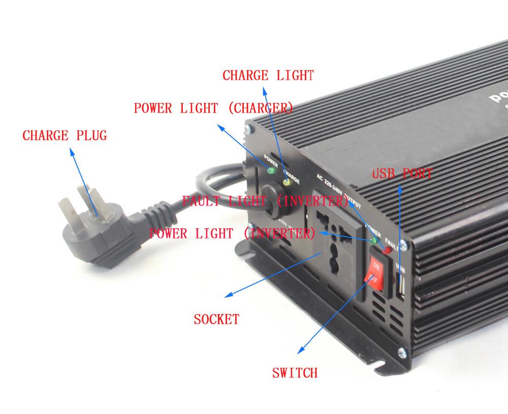 Ups Solar Inverter 12v To 220v Dc To Ac Inverter With