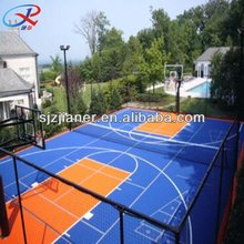 250mm*250mm pp synthetic basketball court flooring