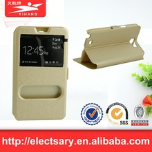 Leather Flip View Window Smart Cover Case For S4 MINII9198