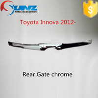 FRONT GATE CHROMED FOR TOYOTA INNOVA 2012 -chrome color designs front gate cover for India market cars accessories