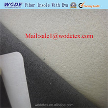 Non woven insole board laminated with white EVA for shoe insole