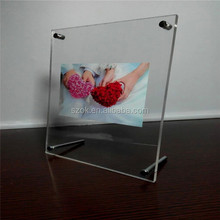 global high end wedding love acrylic photo frame for room