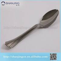 16cm Eco Products Reflections Heavyweight silver Plastic Utensils, Spoon