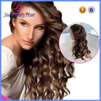 Stock Brazilian Virgin Hair Body Wave Glueless Full Lace Wig
