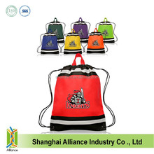 Small fresh flowers drawstring cloth bag tote double-shoulder polyester search bags