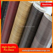 China wood grain pvc decoration laminate sheet