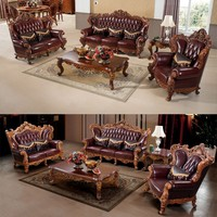 Luxury Classical Pictures of Sofa Set Living Furniture Heavily Carving American Style Sofa