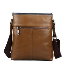 FEGER New Good Selling Leahter Shoulder Bag Fashion Long Strap Men Bag