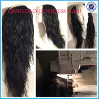 100% Unprocessed human hair peruvian u part wig natural straight layered long hair machine made wig u part