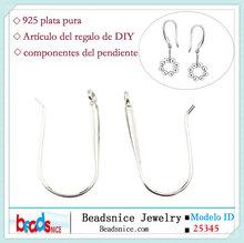 Beadsnice ID 25345 Plata 925 alambres gancho del pendiente del oído francés al por mayor accesorios de la joyería pendientes