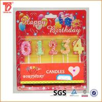 New design dots number candles/partylite candles catalog with great price