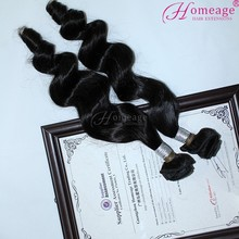 Homeage double weft virgin remy hair extensions hot fusion remy human hair