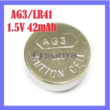 Button Alkaline Cell Battery AG3/LR41 1.5V Cell