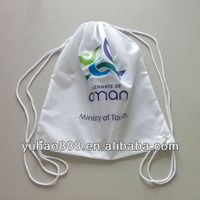 Reusable Shopping Bag Folding Nylon Bag Drawstring Backpack