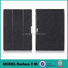 Ultra thin stand case for Microsoft Surface 3 ,Folding Leather Cover Case With Stand for Microsoft Surface pro 3