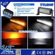 easily installed led light bar Car Accessory Led Light Bar With Wireless Remote Control PC lens 6000k led