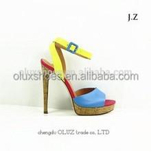 YX01 flocking high heel sandals, wedding sandal, Roman sandal