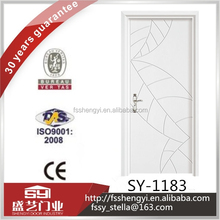 Modern design with good quality flat craft solid wooden door used in living room