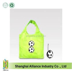 Football Shape Polyester Foldable Sport Bag Shopping Bag