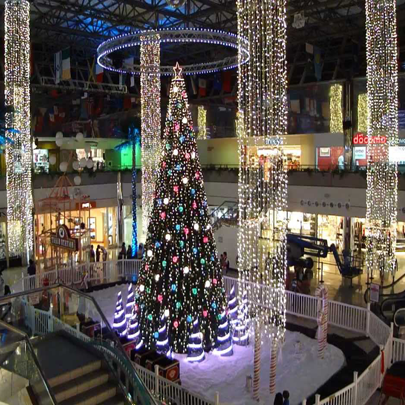 commercial grade led christmas drip light curtain waterfall hanging fairy lights for shopping mall decoration