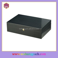 black magnetic wooden wine storage box