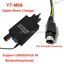 volvo hu 8pin din plug /sc 8pin mini-din plug mp3 adapter volvo with sd usb aux