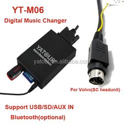 volvo hu 8pin din plug /sc 8pin mini-din plug mp3 adapter volvo with sd usb aux