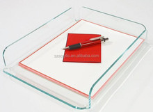 office display A4 paper/file acrylic tray , acrylic holder