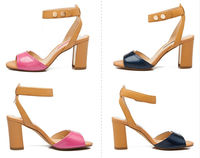 Mature sexy high heel sandal for womens 2014 summer new model ladies thick high heels sandal cheap price womens sandals
