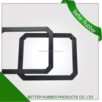 Factory custom molded plastic square screw washer/gasket