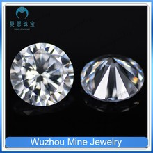 round brilliant cut 4mm white CZ gems 8 hearts 8 arrows cz stone