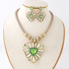 Natural collection lotus leaf design 2015 jewelry sets, latest perfect design stylish jewelry sets