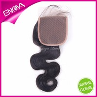 Top Quality Body Wave Brazilian Human Virgin Hair Cheap Silk Base Lace Closure