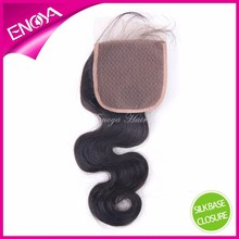 Top Quality Body Wave Brazilian Human Virgin Hair Cheap Silk Base Lace Closure
