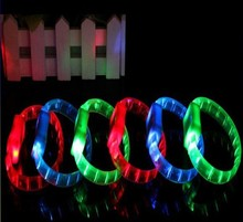 Party Supply Assorted Colors Sound Activated Flashing LED Bracelet