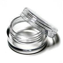 High Quality 10pcs/lot Empty Clear Plastic Cosmetic Containers 5 Gram Size Pot Jars Eyshadow Container Lot