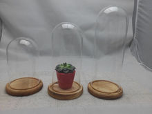 High quality clear glass dome with base,decorative glass dome